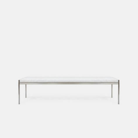 Fritz Hansen — PK63A Coffee Table - White Rolled Marble