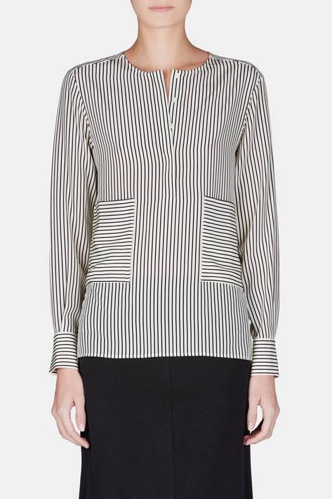 Altuzarra — Carnegie Shirt - Cream/Black Pinstripe