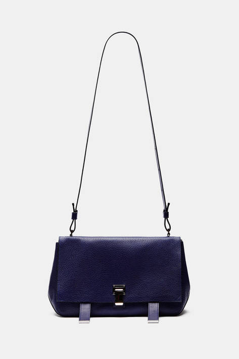Proenza Schouler — Pebbled Leather PS Courier - Navy