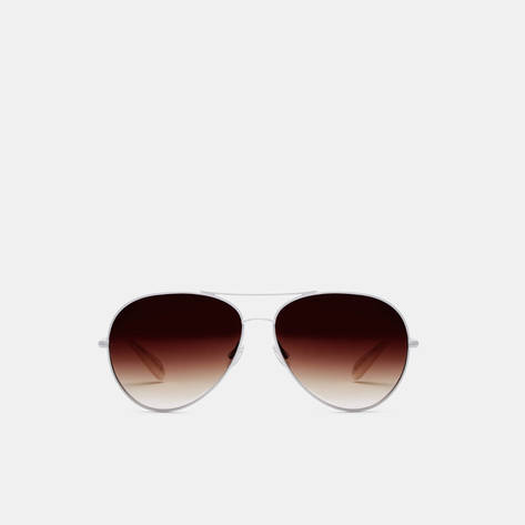 Oliver Peoples — Sayer - White Spice Brown Gradient Inner Mirror