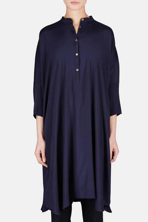 6397 — Big Square Dress - Washed Navy