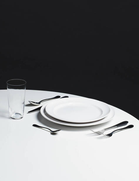 Collected by The Line 15.3 oz Glass Billy Cotton Dinner Plate and Salad Plate Design House Stockholm Stockholm Dinner Fork (from set of two) & The Modern Table: Essential Forms and Enduring Tools u2013 The Line
